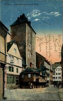 1917 Stempel Mainz auf Feldpost-AK Löhrstrasse Turm Feldpostkarte 1. Weltkrieg
