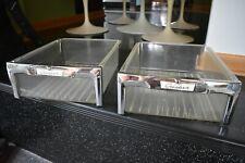 vintage refrigerator crisper drawer set 50's Shelvador Crosley parts