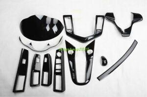 11PC Carbon fiber style Car interior kit Cover Trim For Chevrolet Cruze