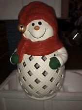 PartyLite Jolly Snowman Jar Holder P93335
