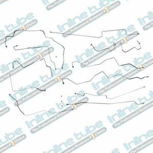 2002-2004 Expedition Navigator Complete Preformed Brake Line Set OE Steel