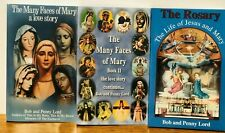 The Many Faces of Mary Books 1 + II + The Rosary, The Life of Jesus & Mary, New