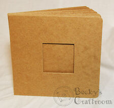 """5.5x5.75"""" Mini Chipboard Album 10 pages unbound w/ 2"""" square frame window front"""