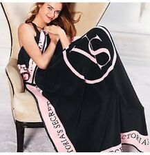 Victorias Secret Fleece Blanket Black & Pink-Brand New