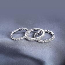14k White Gold Over 2.1Ct Diamond Bridal Band Engagement Ring Set