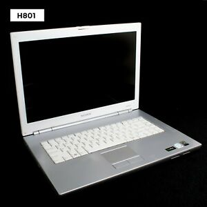 """SONY VAIO PCG-7T1L 15.4"""" LAPTOP CENTRINO 2GB NO HDD FOR PARTS AS IS H801"""