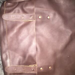 lyle and scot laptop bag (brown leather)