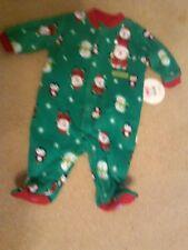 NWT INFANT SOFT FLEECE BLANKET SLEEPER CHRISTMAS SANTA SNOWMEN PENGUINS NEWBORN