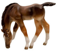 Grazing Brown Foal Horse Figurine by Russian Imperial Lomonosov Porcelain