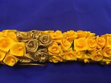 Flowers 4 Hair Malai Saram Garland Bollywood Indian Bridal Kajra Yellow And Gold