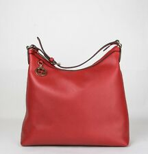 Gucci Red Leather Handbag with GG Charm and Adjustable Handle 449711 6420