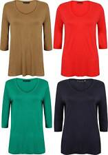 MARKS and SPENCER TUNIC TOP SOFT RED NAVY GREEN CAMEL SIZE 8 - 24 NEW M&S 3/4