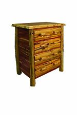 Rustic Red Cedar Log 4 Drawer Chest - Amish Made in USA