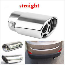 Silver Stainless steel Car Round Exhaust Pipe Tip Tail Muffler Cover Car styling