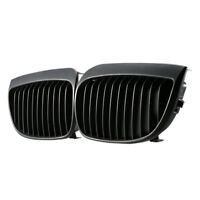 Matte BLACK KIDNEY GRILLES GRILL FOR BMW E87 E81 1 SERIES 2004-07 2005 120i 130i