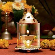 Akhand Diya Brass Oil Jyot Lamp Puja Hindu Deepak Religious Tea Light Holders