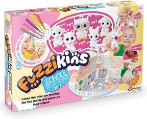 Fuzzikins School Pop Up Playset & 5 Figures, Colour & Wash New Kids Xmas Toy 4+