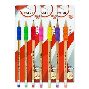 9x HB-Bleistifte für Kinder, Ergonomische-Bleistifte mit Griff, FSC Holz