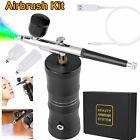 Portable Air Compressor Kit Air-Brush Paint Spray Gun Nail Tattoo Art Airbrush