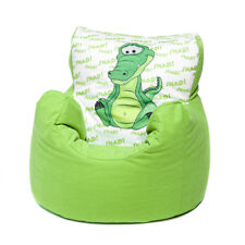 Green Crocodile Childrens Character Filled Beanbag Kids Bean Bag Chair Bedroom