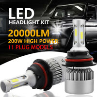 2x 200W 20000LM LED Headlight Kit H1 H4 H7 H11 9003 9005 9007 Hi/Lo Bulbs 6500K