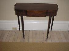 19th C PHILADELPHIA, SHERATON gate leg CARD TABLE console mahogany DUNCAN PHYFE