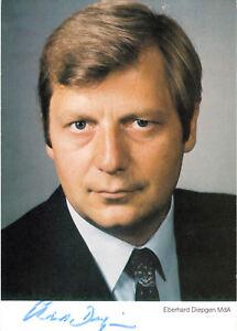 AK, Abgeordnetenhaus Berlin, Eberhard Diepgen, MdA, mit Autogramm, um 1988