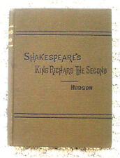 Shakespeare:KING RICHARD SECOND 2nd, Henry Hudson:1879