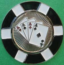 4 Aces Poker Chip Golf Ball Marker - Package of 2
