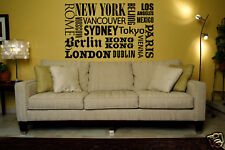 New York Wall Decal, New York Wall Art, Travel Wall Decal, Wanderlust Decal