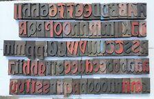 More details for vintage letterpress wood type 87 pieces  67mm free postage
