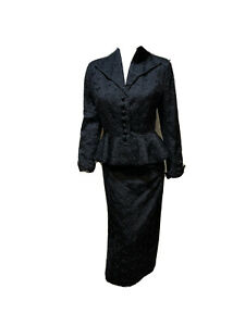 ViNtAgE original Lilli Ann 2 piece peplum suit excellent condition MUST SEE