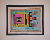 VINTAGE ROLPH SCARLETT ABSTRACT NON-OBJECTIVE ART MINIMALISM MODERNISM PAINTING
