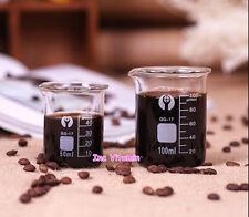50ml / 100ml Glass Measuring Cup Coffee Beaker Lab Pyrex Graduated Borosilicate