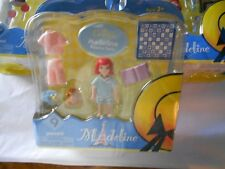 Madeline La Petite Pajama Party Playset 9 Pieces Teddy Bear Book 2 Outfits New