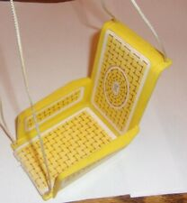 Vintage 1970 Barbie Yellow Swing Chair Live Action House Furniture