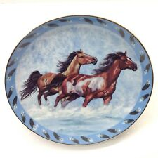 Horse Spirited Visions Plate Collection Danbury Mint Surf Chasers Vtg