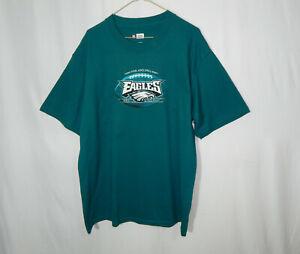Philadelphia Eagles NFL Football Team Apparel T Shirt Reebok Large Mens Clothing