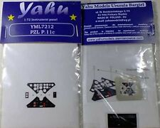 Yahu Models YML7212 1/72 PE PZL P.11C Instrument Panel