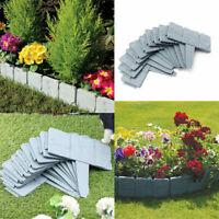 10 x Garden Lawn Cobbled Stone Effect Plastic Edging Plant Border Simply Hammer