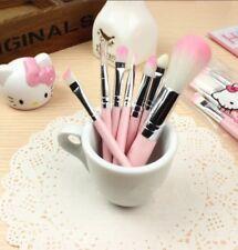 7x Hello Kitty Mini Eye Makeup Brush Set Face Lip Cosmetic Travel Kit Tools