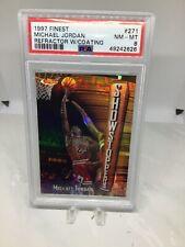 1997 Finest #271 Refractor w/coating Michael Jordan PSA 8 Freshly Graded