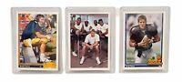 1991 Upper Deck Brett Favre Rookie Cards Atlanta Falcons #13 #627 #647 Lot of 3