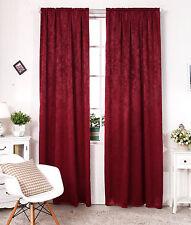 Verdunklungsgardine Vorhang mit Kräuselband Blickdicht Gardine 135x245 cm #192