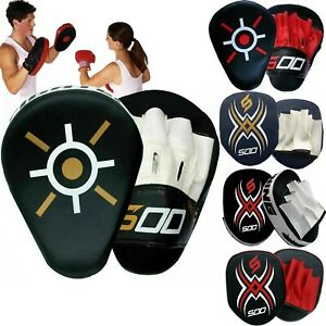 Boxing Pads Curved Focus Mitts MMA Muay Thai Kick boxing Coaching Hand Target