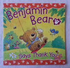 BENJAMIN BEAR SAYS THANK YOU [Paperback Book]
