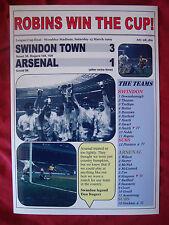 Swindon Town 3 Arsenal 1 - 1969 League Cup final - souvenir print