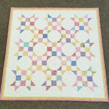 New listing New Handmade Baby Girl or Toddler Quilt-1930's Scrappy Prints