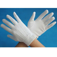 White Mens Ceremonial Work Protective  Gloves Polyester Cotton Quality One Size