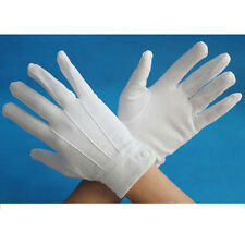 WHITE MENS GLOVES COTTON QUALITY ONE SIZE -- FORMAL MASONIC FORMAL